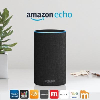 Amzec Accueil Amazon Anthracite Echo Tissu qzVpSUM