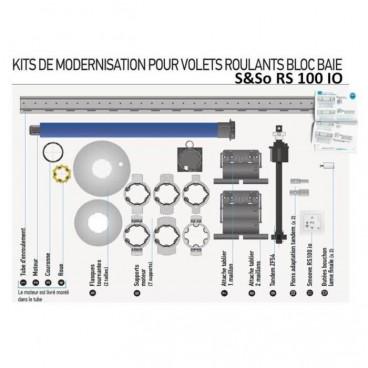 KIT BLOC BAIE REMPLACEMENT & MOTORISATION 15/17 RS100 IO porte fenêtre