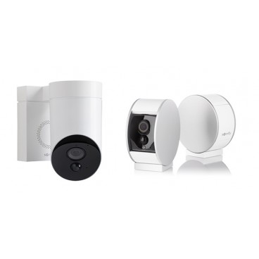 Pack camera de surveillance 1Outdoor blanche 1 Indoor SOMFY