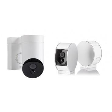 Pack camera de surveillance 1Outdoor blanche 1 Indoor SOMFY