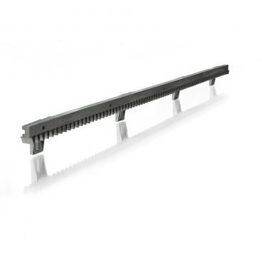 Cremaillere nylon renforcée acier pour portail coulissant ( 1x1 mètre) fixation basse