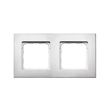 Cadre double Smoove blanc laqué