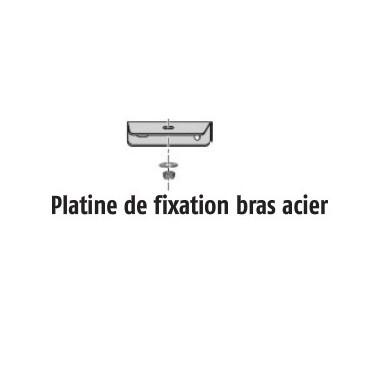 Platine de fixation bras acier