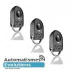 Lot de 3 télécommandes somfy Keygo 4 boutons RTS